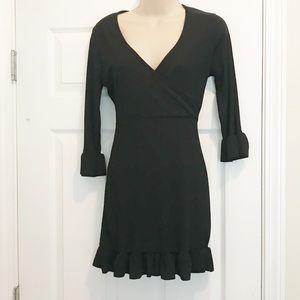 Boohoo black ruffle dress - size 8